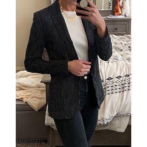 Black H&M stripe blazer
